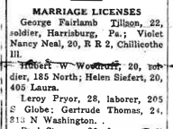 Married: LeRoy Pryor and Gertrude Thomas