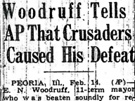 Woodruff Tells AP That Crusaders Caused His Defeat