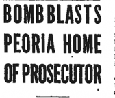 Bomb Blasts Peoria Home of Prosecutor