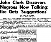 John Clark Discovers Negroes Now Talking