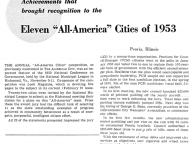 "Eleven ""All-America"" Cities of 1953"