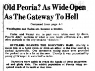 Old Peoria: As Wide Open As The Gateway To Hell