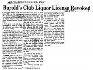 Harold's Club Liquor License Revoked