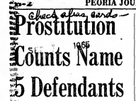 Prostitution Counts Name 5 Defendants