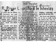 R. Pryor Launched in Movies