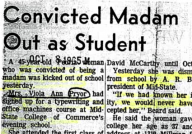 Convicted Madam Out as Student