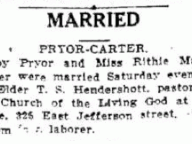 Married: Pryor-Carter