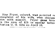 Roy Pryor/Marie Pryor Assault Arrest