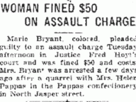 Woman Fined $50 on Assault Charge