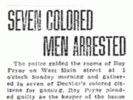 Seven Colored Men Arrested